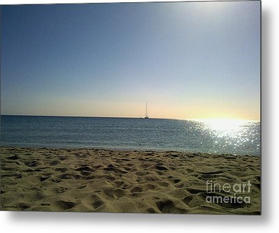 Metal Print featuring the photograph Sailing by Ramona Matei
