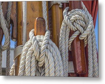 Sailing Rope 5 Metal Print by Leigh Anne Meeks