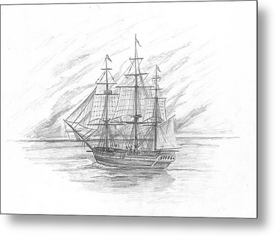 Sailing Ship Enterprise Metal Print by Michael Penny