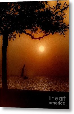 Sailing Sunset Metal Print by Michael Hoard