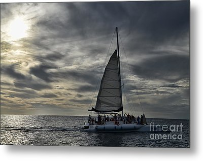 Sailing The Caribbean Metal Print