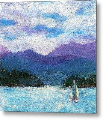 Sailing The Lake Metal Print by David Patterson