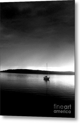 Sailing Through The Light Metal Print by Allyson Andrewz