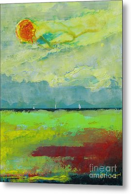 Sailing Thru Color Metal Print