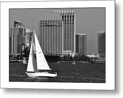 Metal Print featuring the digital art Sailing To Work by Kirt Tisdale