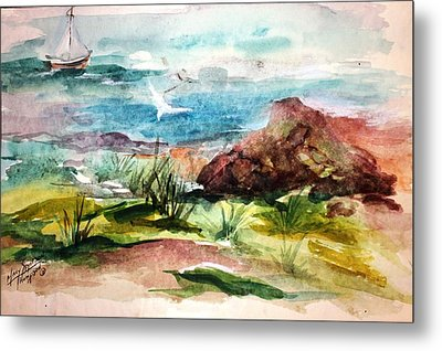 Sailing Towards Anywhere Metal Print by Mary Spyridon Thompson