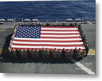 Sailors And Marines Display Metal Print