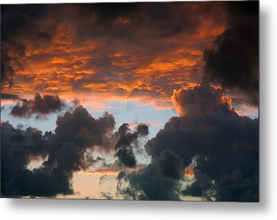 Sailors Take Warning Metal Print by Allen Carroll