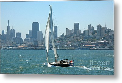 Sailors View Of San Francisco Skyline Metal Print by Connie Fox