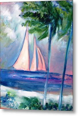 Sails In The Sunset Metal Print by Patricia Taylor