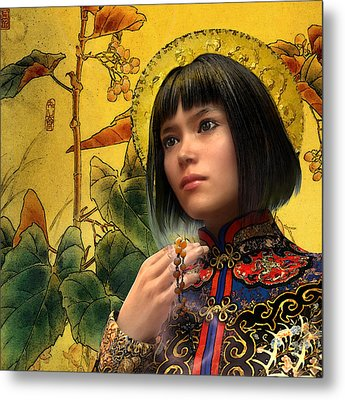 Saint Agatha Lin Zhao Of China Metal Print