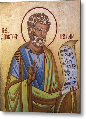 Saint Apostle Peter Metal Print by Aleksandar Tesanovic