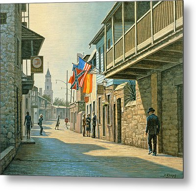 Saint Augustine Street   Metal Print by Paul Krapf