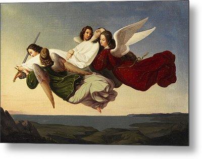 Saint Catherine And Angels Metal Print