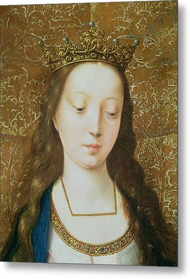 Saint Catherine Metal Print by Goossen van der Weyden