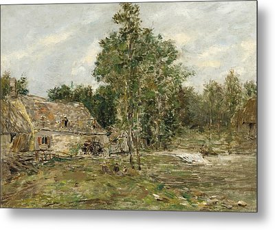 Saint-cenery The Mill Metal Print by Eugene Louis Boudin