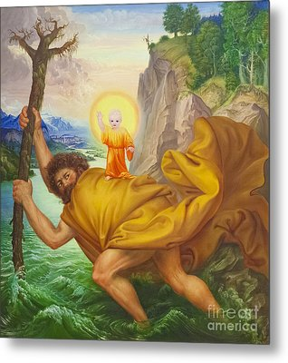 Saint Christopher By Otto Dix Metal Print by Roberto Morgenthaler