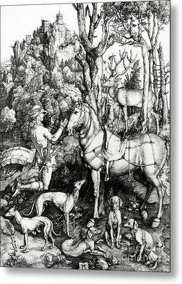 Saint Eustace Metal Print by Albrecht Durer or Duerer