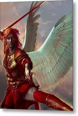 Saint Gabriel The Archangel Metal Print