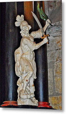 Saint George And The Dragon. The Cathedral Of St. Barbara.  Metal Print by Andy Za