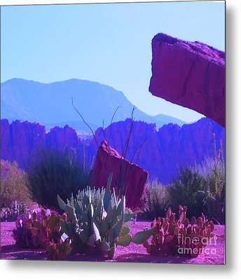 Metal Print featuring the photograph Saint George Rocks by Ann Johndro-Collins