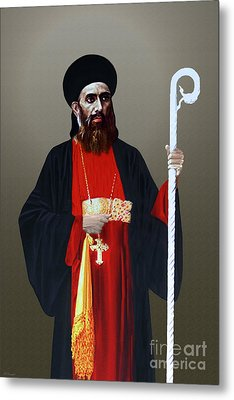 Metal Print featuring the digital art Saint Gregorios Of Parumala by A Samuel