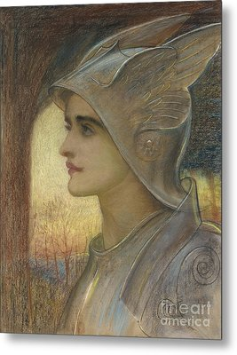 Saint Joan Of Arc Metal Print by Sir William Blake Richomond