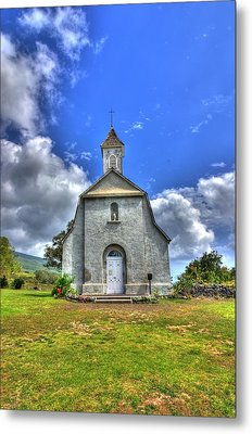 Saint Joeseph's Church Maui  Hawaii Metal Print by Puget  Exposure
