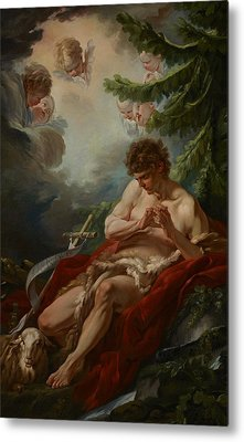 Saint John The Baptist Metal Print by Francois Boucher