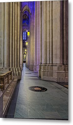 Saint John The Divine Cathedral Columns Metal Print by Susan Candelario