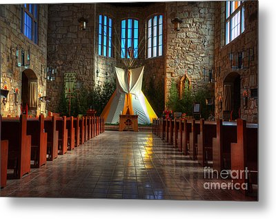 Saint Josephs Apache Mission Metal Print