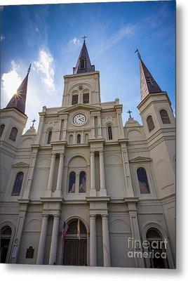 Saint Louis Cathedral Entrance Metal Print