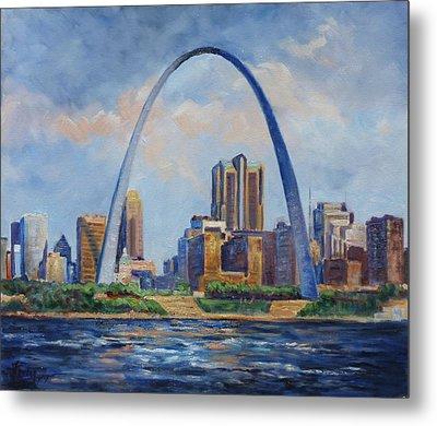 Saint Louis Skyline 2 Metal Print