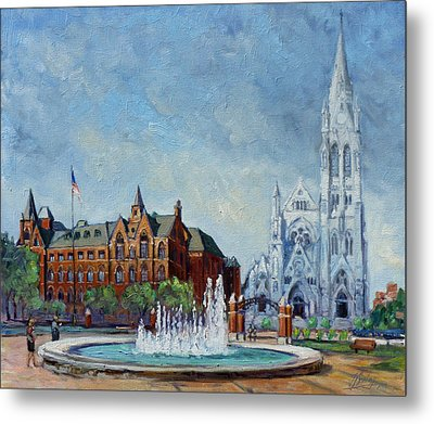 Saint Louis University And College Church Metal Print