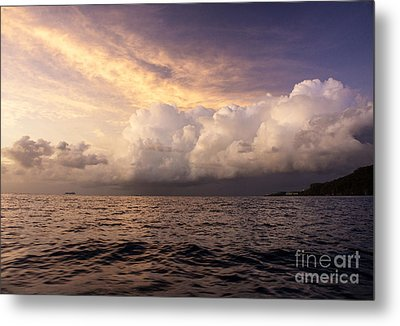 Saint Lucian Sunset Metal Print