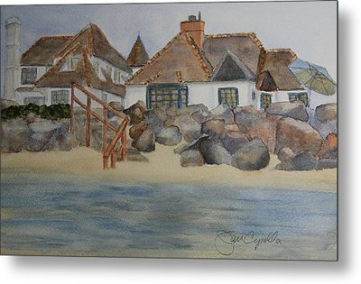 Saint Malo Beach House Metal Print