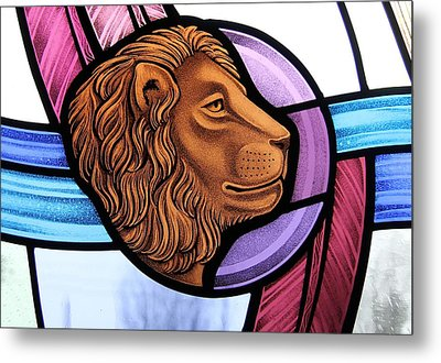 Metal Print featuring the glass art Saint Mark Lion by Gilroy Stained Glass