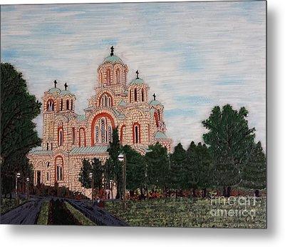Saint Marko Church  Belgrade  Serbia  Metal Print