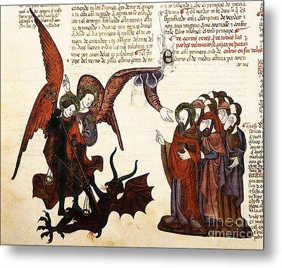 Saint Michael And Satan, 1430 Artwork Metal Print