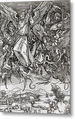 Saint Michael And The Dragon Metal Print