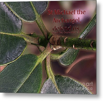 Metal Print featuring the photograph Saint Michael The Archangel by Jean OKeeffe Macro Abundance Art