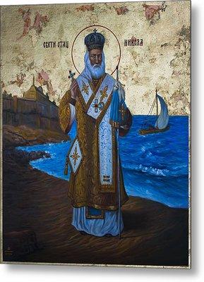 Saint Nicholas Metal Print by Aleksandar Tesanovic