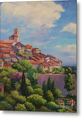 Saint Paul De Vence  Detail Metal Print by John Clark