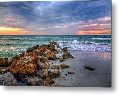 Saint Pete Beach Stormy Sunset Metal Print