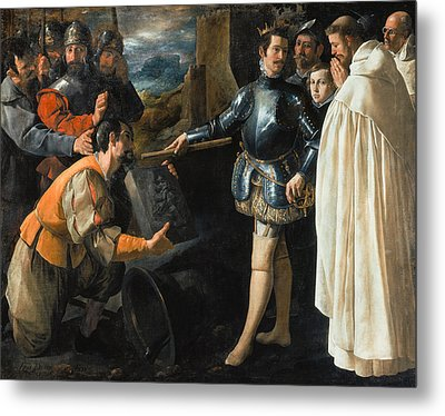 Saint Peter Nolasco Recovering The Image Of The Virgin, 1630 Oil On Canvas Metal Print