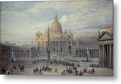 Saint Peters In Rome Metal Print by Louis Haghe