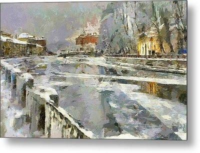 Saint Petersburg At Winter Metal Print by Yury Malkov