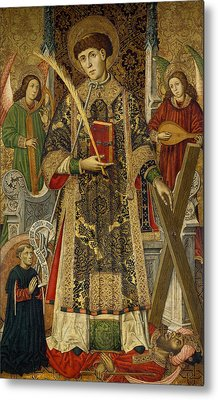 Saint Vincent  Deacon And Martyr With A Donor Metal Print by Tomas Giner