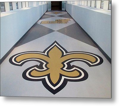Saints Are Coming - Benson Towers - New Orleans La Metal Print