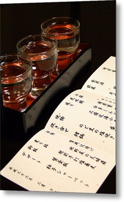 Sake Delight Metal Print by Larry Knipfing
